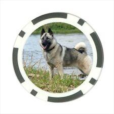 Norwegian Elkhound Dog Canine Pokerchip Guard - Texas Holdem