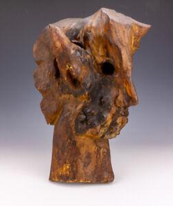 Antique Cult Or Folk Art - Carved Burred Wood - Talismanic Satyr Of Devils Head