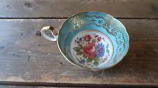 """Antique Flower Floral Tea Cup by John Aynsley 3.75"""""""