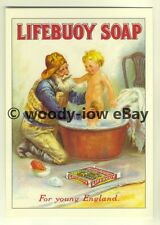 ad3442 - Lifebuoy Soap - Fisherman Bathing His Son -  Modern Advert Postcard
