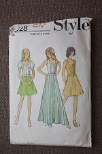Style Sewing Pattern Teens Skirt in 2 Lengths and Top Size 13/14
