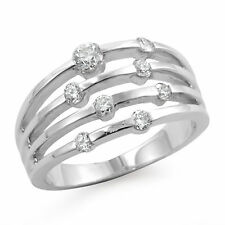 0.50 Ct Round Real Diamond Anniversary Wedding VS1 Band Ring 14k Gold White Sz 7