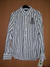 Ralph Lauren Hemd Langarm weiß schwarz gestreift Grösse 8 S neu mit Etikett