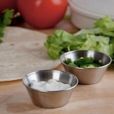 Box of 12 Stainless Steel Serving Ketchup Sauce Pots Dipping Pots 1.5oz Dip Bowl