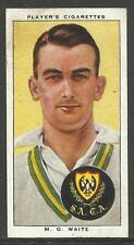 PLAYER'S 1938 CRICKETERS  M.G. Waite Card No 47 of 50 CRICKET CIGARETTE CARDS