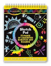 Melissa And Doug Scratch Art 12 Page Sketch Pad Set NEW Crafty Toys Kids