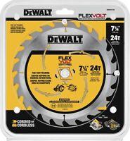 "5 New Blister Pack  DEWALT DWAFV3724 7-1/4"" Flexvolt 24T Circular Saw Blade's"