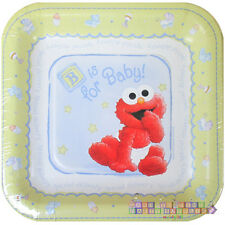 SESAME STREET B is for Baby SMALL PAPER PLATES (8) ~ Birthday Party Supplies