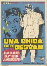 Programa de CINE. Título: UNA CHICA EN EL DESVÁN.