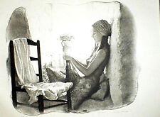 SANDU LIBERMAN signed lithograph GIRL AT THE WINDOW * Publisher's COA *