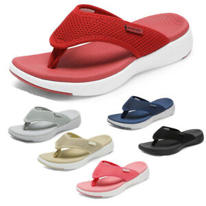 DREAM PAIRS Women's Arch Support Soft Cushion Flip Flops Thong Sandals Slippers