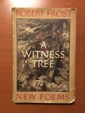 A Witness Tree Robert Frost First Edition 1st Printing With Dust Jacket 1942