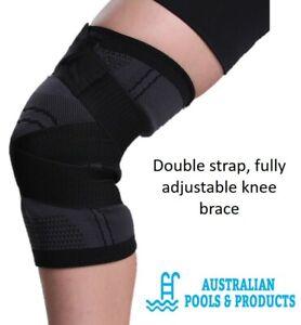 Knee Brace Adjustable Straps Yoga Athletics Netball Fitness Leg Muscle Support