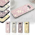 Samsung GALAXY S8 /Plus Flower Lace Hybrid Rubber Protective Clear Case Cover