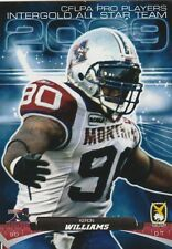 2009 INTERGOLD CFL CFLPA ALL STARS KERON WILLIAMS ALOUETTES (U MASS MINUTEMEN)