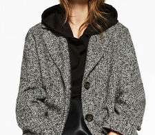 Zara Extra-Large Laine Manteau en Veste Boucle TAILLE S - M