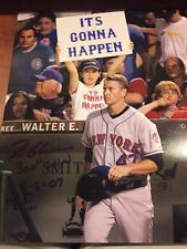 "TOM GLAVINE NEW YORK METS HOF ""300th WIN 8-5-07"" DATE SIGNED 11X14 PHOTO ALG COA"