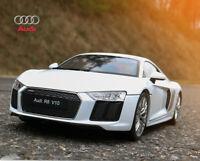 WELLY 1:18 Audi R8 V10 Boys Alloy Car Model Girls Toys Static Display