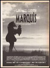MARQUIS__Original 1989 Trade screening AD / poster__HENRI XHONNEUX__ROLAND TOPOR