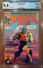 Marvel Age #98 CGC 9.4 WP Preview & Cover Appearance of the Toxic Avenger