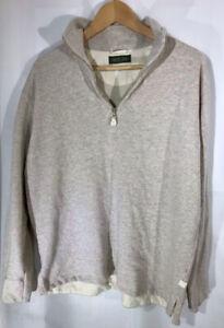 Country Road Australia Cotton Sweatshirt top Jumper Shirt Size UK Medium Beige