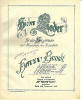 """"""" Waldesrauschen """" ~ von Hermann Brandt, übergroße, alte Noten"""