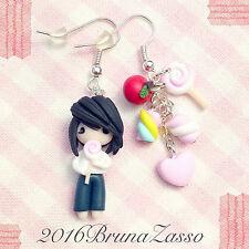 Orecchini Chibi L Cute Death Note Earrings Fimo Polymer Clay Kawaii Manga Anime