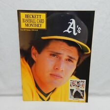 JOSE CANSECO COVER BECKETT BASEBALL CARD PRICE GUIDE OCT 1990 ISSUE #68 (#3,19)
