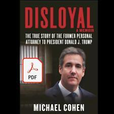 Disloyal: A Memoir By Michael Cohen (2020)
