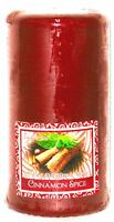 New Candle Cinnamon Spice Red 2.75 x 5.49 Made by Candle-Lite.