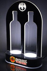 Bacardi Rum, LED Leuchtreklame, Zwillings Flaschenaufsteller, Glorifier, Leuchte