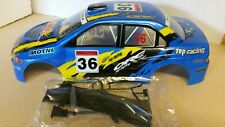 1/10 RC car 190mm on road rally drift Mitsubishi Body Shell w/spoilers Blue