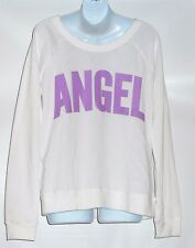 "Victoria's Secret Supermodel Essentials ""Angel"" Graphic Fleece Sweatshirt M NWT"