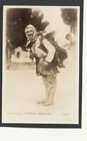 Postcard Palestine Middle East a Water Carrier man RP