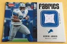 2006 Fleer Fabrics Football Kevin Jones Game-Used Jersey Card