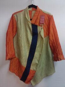 Art to wear color block jacket. Designer Fineartwearable