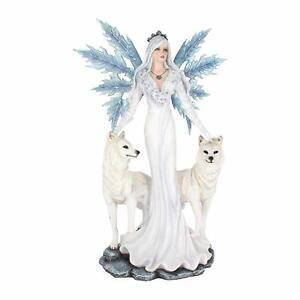Nemesis Now Aura LARGE Fairy with Wolf Companions Figurine D2749G6 60.5CM
