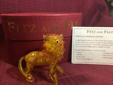 Fitz and Floyd Glass Crystal Lion.new in box.So Elegant!