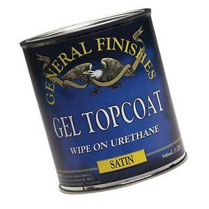 General Finishes SH Gel Topcoat, 1/2 Pint, Satin 1 Half-Pint