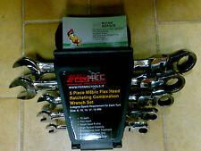 Set 5 chiavi a cricco combinate - con snodo FERMEC FRW-198 usag pastorino beta