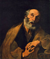 Art Oil painting Giovanni Battista Tiepolo - Elder portrait St Peter canvas