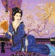 Geisha Con Ventilador puntada cruzada contada Kit-Maia ancla el arte de bordado