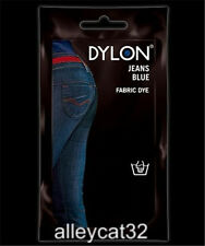 Dylon Permanent Fabric Dye BLUE JEANS 1.75oz Feathers, Tie Dye, Basketry