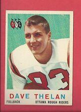 1959 TOPPS CFL FOOTBALL # 58 DAVE THELAN