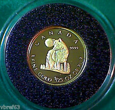 2007 CANADA 99.99% Gold Wolf 50 cent coin proof finish - A1 condition!