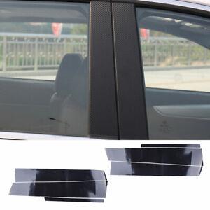 Fit For Honda Civic 06-11 Carbon Fiber Door Window B Pillar Post Trim Cover Mold
