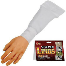 FAKE SURPRISING ARM / HAND WITH WHITE SLEEVE joke halloween props gag prank new