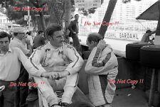 Graham Hill y Richard Attwood Lotus retrato Monaco Grand Prix 1969 fotografía