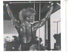 bodybuilder TONYA KNIGHT Bodybuilding Workout Muscle Photo B+W