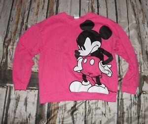 Disney Size XXXL (21) Hot Pink Mickey Mouse Graphic Sweatshirt Crewneck